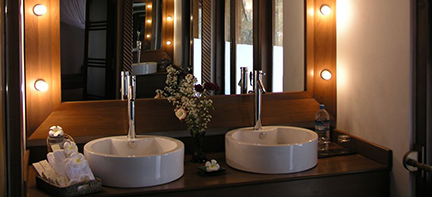 Aureum Resort and Spa badkamer